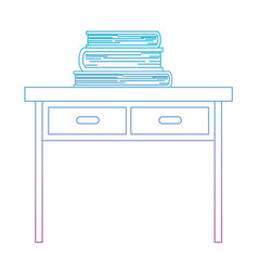 desk books education paper learning library study school textbook vector illustration