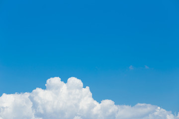 Canvas Prints Heaven white clouds in the blue sky