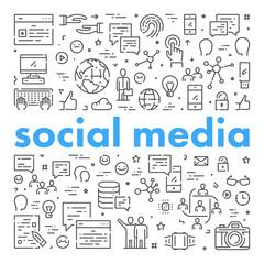 Line web banner for social media