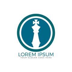 Chess king logo design.