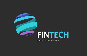 Modern logo concept design for fintech