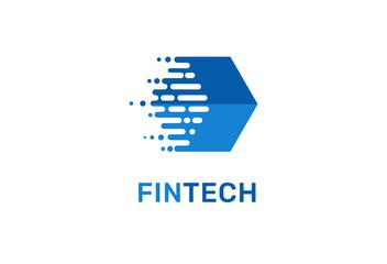 Modern logo concept design for fintech
