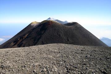 Summit of Volcano Mount Etna, Sicily, Italy Fototapete