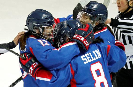 Ice Hockey - Friendly - Inter-Korea v Sweden