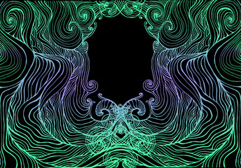 Decorative waves ornament abstract background.