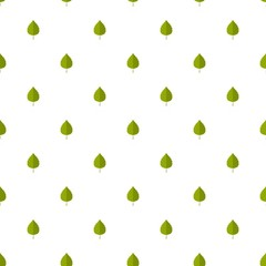 Birch leaf pattern seamless in flat style for any design
