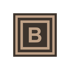 Vector symbol of letter beta or B from the Greek alphabet