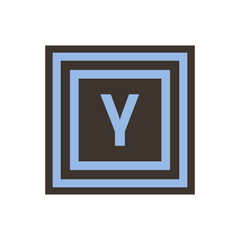 Vector symbol of small letter gamma from the Greek alphabet