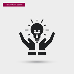 Bulb icon simple vector sign