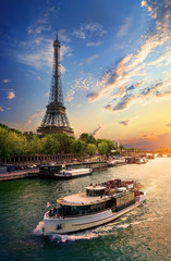 Foto auf Gartenposter Paris On bank of Seine