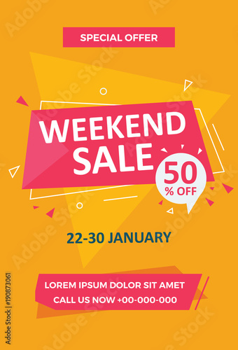 Weekend Sale Flyer Template Stock Image And Royalty Free Vector