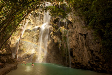 Tumalog waterfall on Sebu island, Philippines