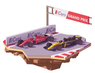 Papiers peints F1 Vector low poly formula race