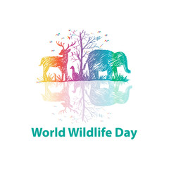 World wildlife day logo