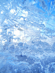Colorful ice. Abstract ice texture. Nature background.