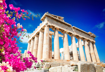 Photo on textile frame European Famous Place Parthenon temple, Athens