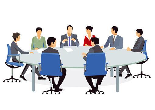 Geschäftsleuten beim Meeting und Beratung