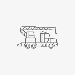 construction crane vector icon