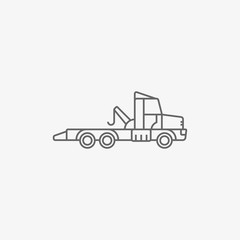 wrecker truck vector icon