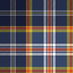 Color tartan fabric texture seamless pattern