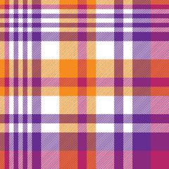 Pink orange plaid madras seamless pattern