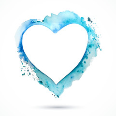 Heart-frame-blue