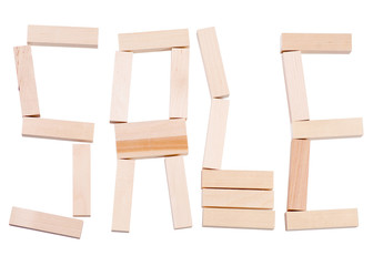 Word sale wooden