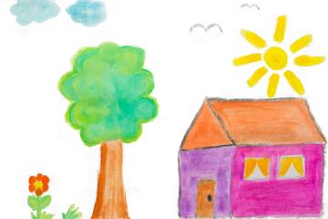 Zuhause Kinderbild