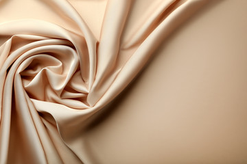Background of beige satin fabric Wall mural