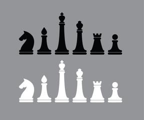 Vector illustration Chess figures