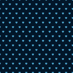 Seamless pattern with hearts. Valentine's day pattern. Vector romantic hearts.