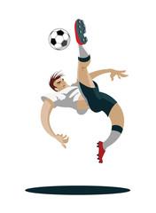 2698393 Soccer Player playing, running and kicking Ball.