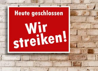 Streik Schild Symbol © Matthias Buehner