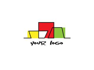 дизайн логотипа абстрактные здания