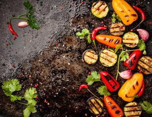 Keuken foto achterwand Eten Spicy grilled vegetables