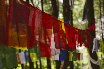 Flags in Nepal.