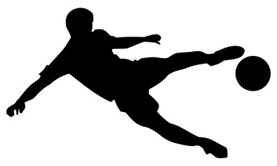 silhouette action kicking players float II