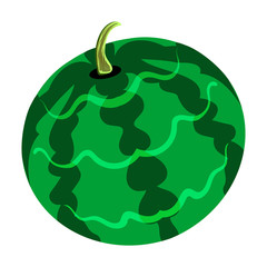 Flat design icon of Watermelon in ui colors.