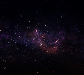Galaxy and nebula . Starry outer space background texture.