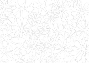 Spring, vector background. Springtime with hand drawn flowers