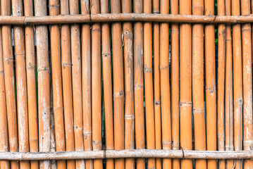 bamboo fence on old tone for background texture