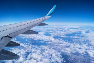 Die Welt aus einem Flugzeug