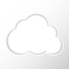 Frame on a white background in the form of a cloud for your photos.Vector illustration.The layout for your text.