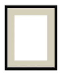 Vertical back square frame with margin to put a photograph on white