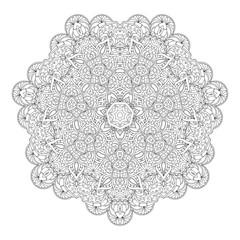 Hand drawn decorative mandala