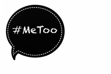#MeToo in a speech balloon