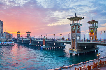 The Stanley bridge, Alexandria, Egypt Fotomurales