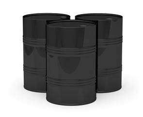 Barils pétrole noir