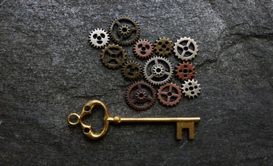 Gears and key