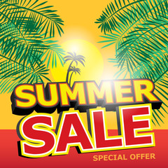 Poster Design with text Summer Sale